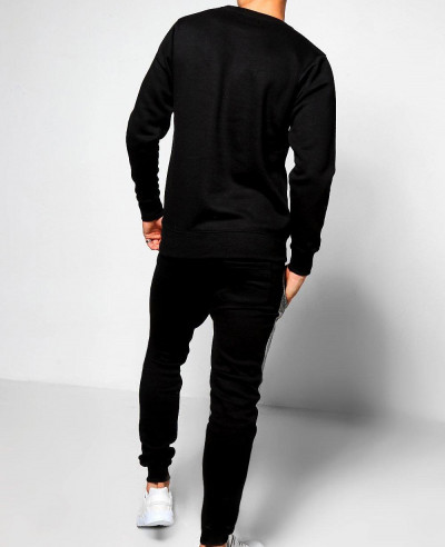 Skinny-Fit-Contrast-Chest-Panel-Tracksuit