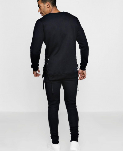 Skinny Fit Sweater Eyelet Tracksuit