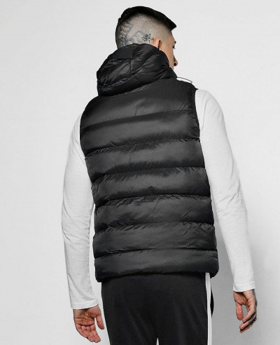 Sleeveless-Puffer-Padded-With-Hood-Vest