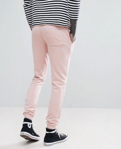 Slim Fit Sweat Joggers in Pink