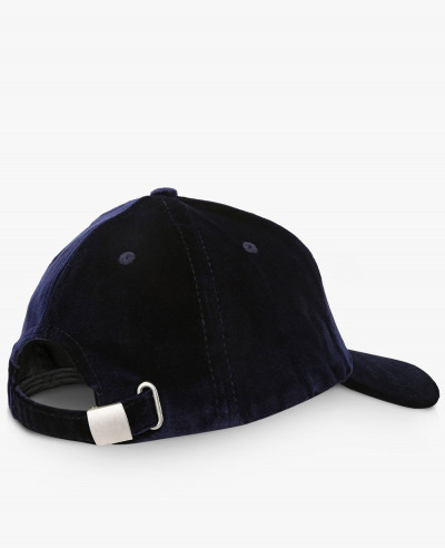 Soft Curved Peak Cap in Velvet