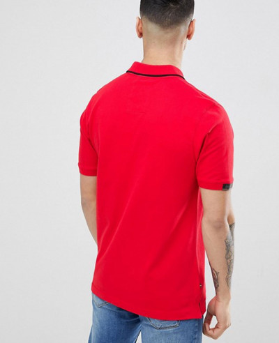 Sport Mead Short Sleeve Polo Shirt In Red
