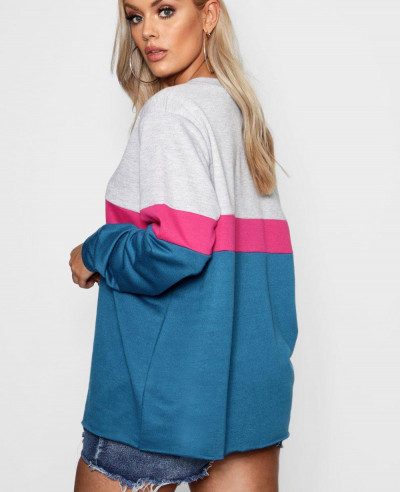 Sports-Stripe-Colour-Block-Sweat-Top-Sweatshirt