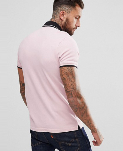 Sportswear Logo Polo Shirt in Pink