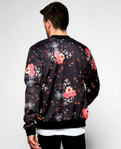 Sublimation-Oversized-Big-And-Tall-Black-Rose-Ombre-Printed-Bomber