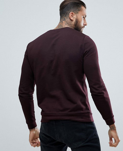 Sweatshirt In Burgundy