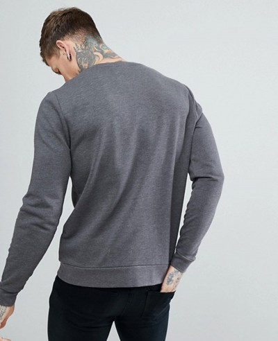 Sweatshirt In Charcoal Marl