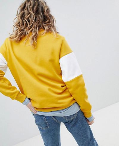 Sweatshirt-In-Yellow-And-White