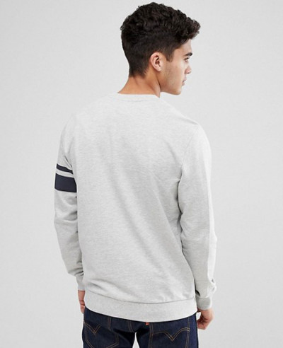 Sweatshirt With Arm Stripe
