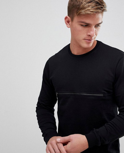 Sweatshirt-With-Front-Zipper-Pocket