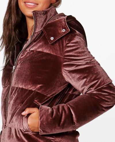 Tall-Daniella-Velvet-Padded-Bomber-Quilted-Puffer-Jacket