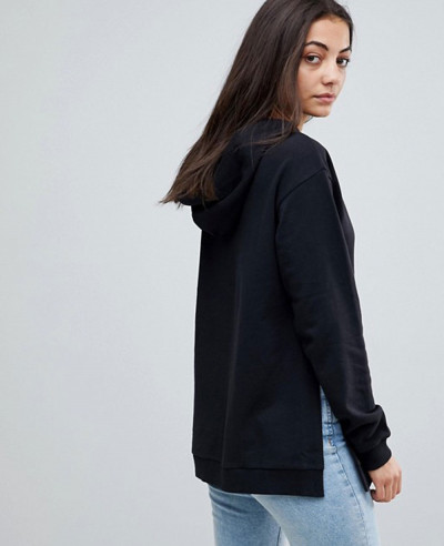 Tall Hoodie With Side Split Detail