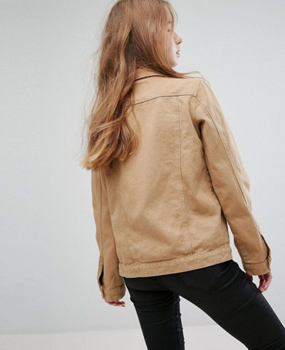 Tan Denim Girlfriend Jacket