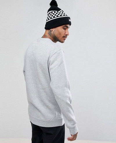 Technical-Crew-Neck-Sweatshirt-Oversized-Kangaroo-Pockets-in-Grey-Marl