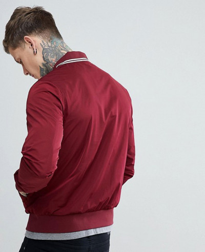 Tipped-Bomber-Jacket-In-Burgundy