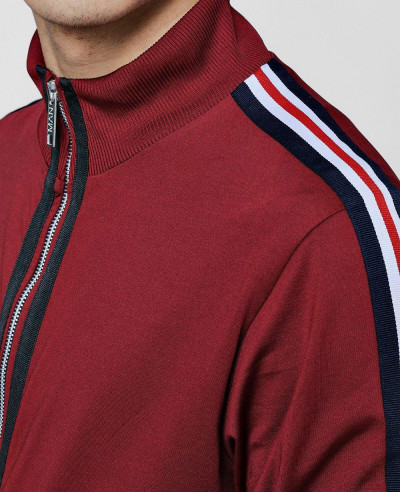 Track Top With Sports Rib Detailing