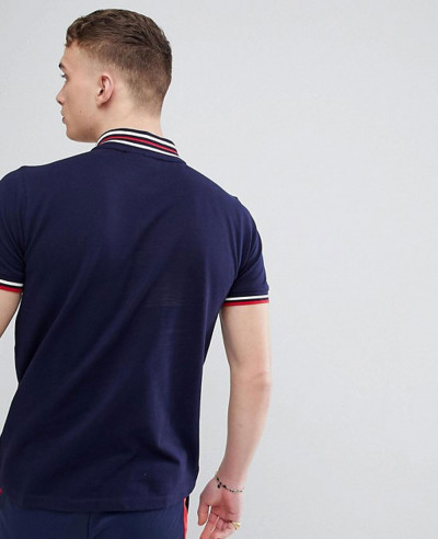 Vintage-Baseball-Polo-Shirt-In-Navy