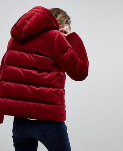 Women-Velvet-Hooded-Padded-Jacket