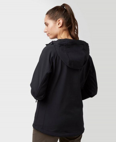 Women-Black-Hooded-Softshell-Jacket