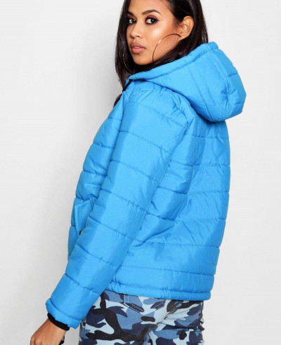 Women-Blue-Hooded-Padded-Coat