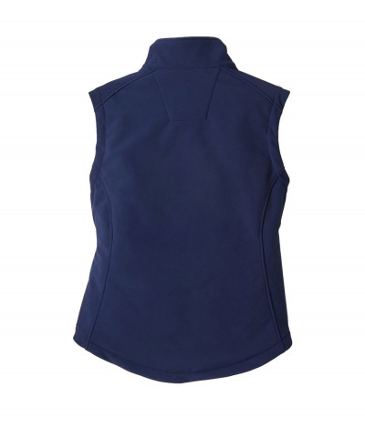 Women-Fashion-Navy-Blue-With-Sleeveless-Softshell-Jacket