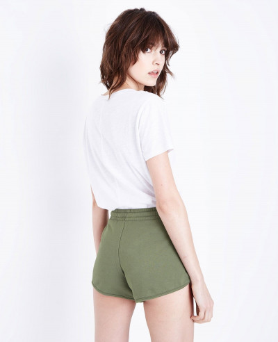 Women-Khaki-Jersey-Runner-Short