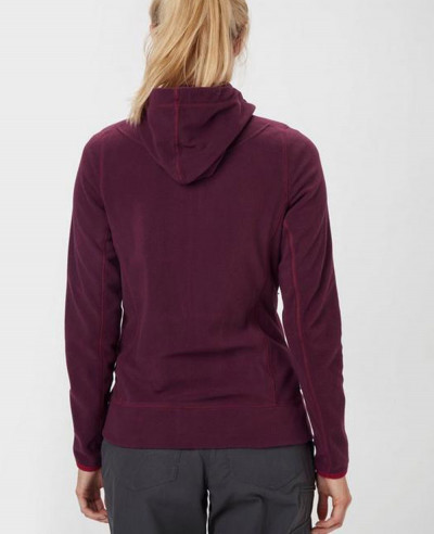 Women-Maroon-Full-Zip-Microfleece-Hooded-Fleece-Jacket