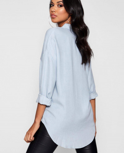 Women-Oversized-Soft-Touch-Denim-Shirt