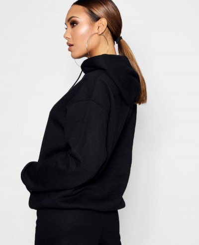 Women-Pullover-Black-Style-Hoody