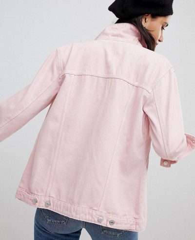 Women-Stylish-Custom-Pink-Denim-Jacket