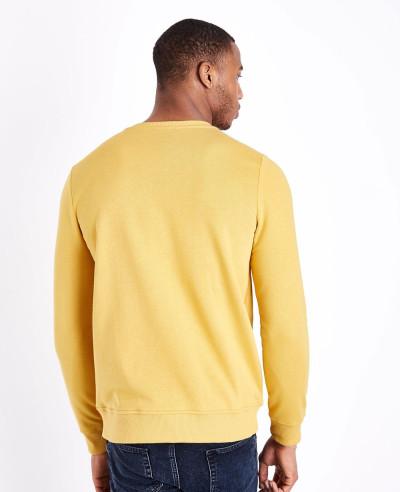 Yellow Crew Neck Sweatshirt