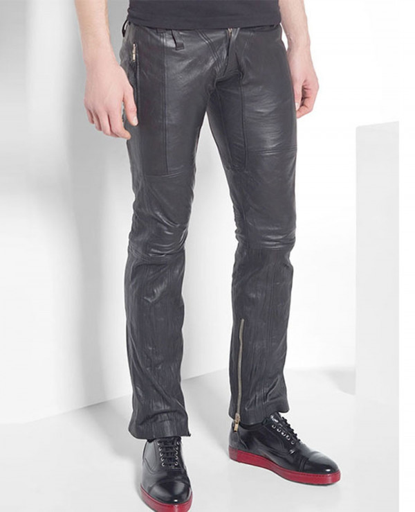 100%-New-Genuine-Sheep-Napa-Leather-Men-Designer-Biker-Leather-Pant