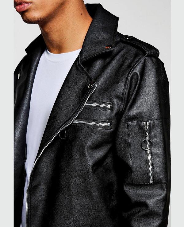 Black-Faux-Leather-Regular-Fit-Biker-Jacket