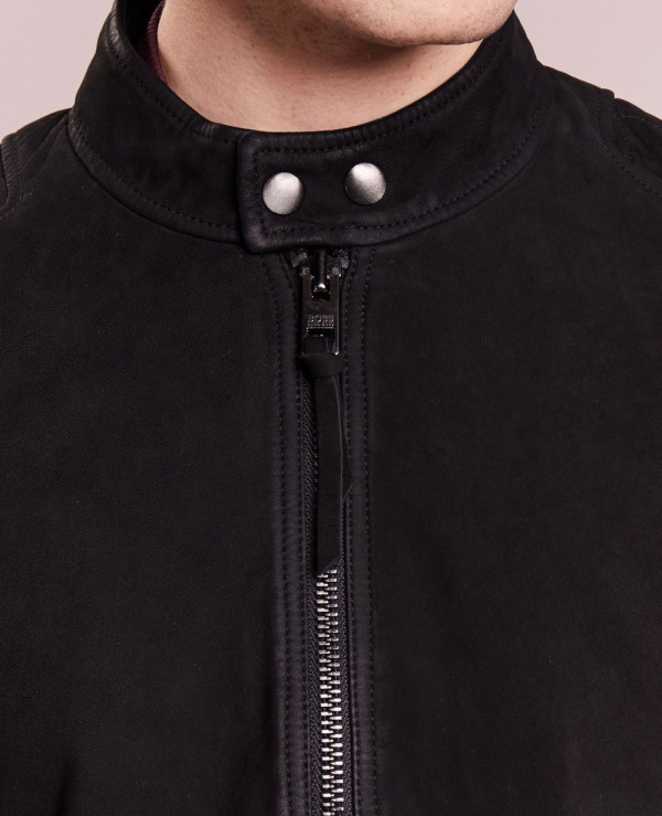 Black-Men-Biker-Suede-Real-Handmade-Leather-Jacket