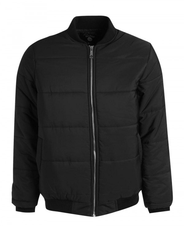 Black-Quilted-Jacket-With-Bomber-Neck-Varsity-Jacket