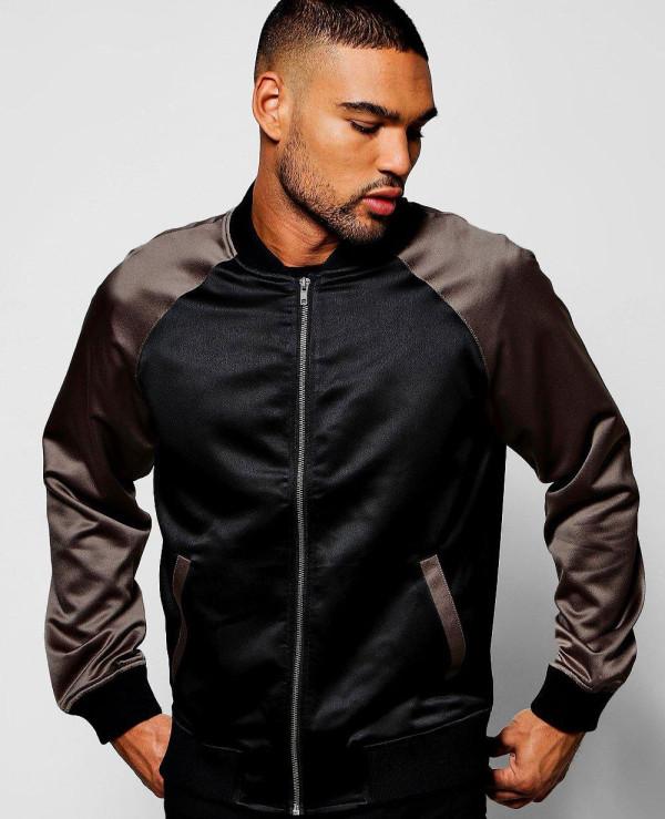 Black-Satin-Bomber-Jacket-with-Contrast-Raglan-Sleeves-Varsity-Jacket