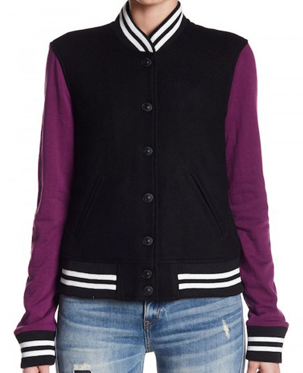 Black-Wool-Blend-and-Leather-teddy-Varsity-Jacket