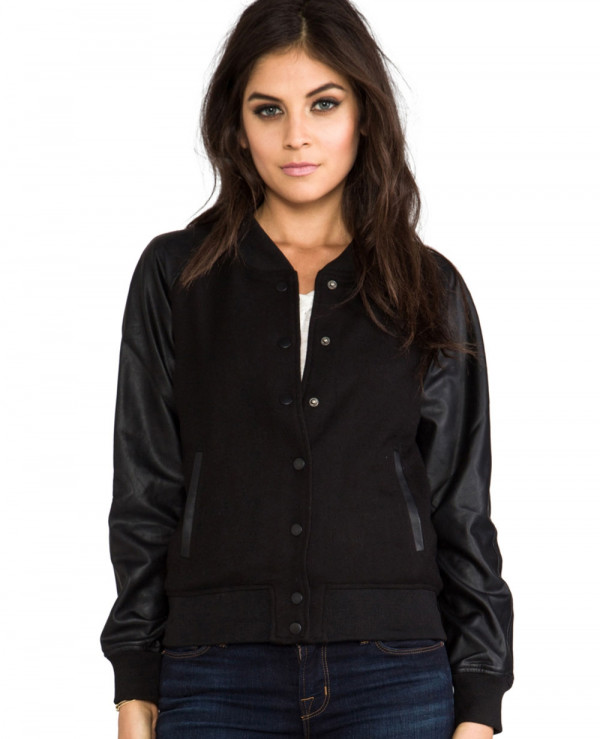 Black-Wool-College-University-Vegan-Leather-Sleeves-Varsity-Jacket