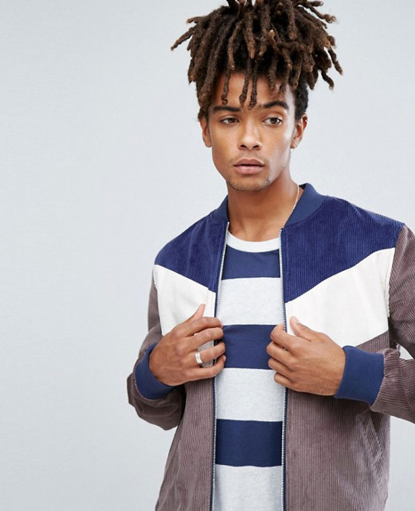 Bomber-Jacket-In-Cord-With-Chevron-In-Charcoal