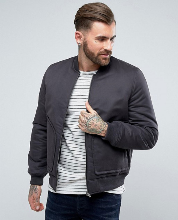 Bomber-Jacket-with-Pocket-Detail-in-Black