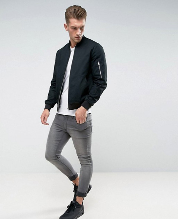 Bomber-Jacket-With-Sleeve-Zip-In-Black