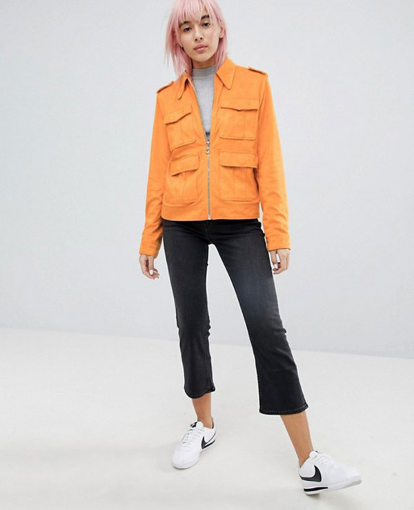 Clasic-Western-Pocket-Detailed-Suede-Leather-Look-Jacket
