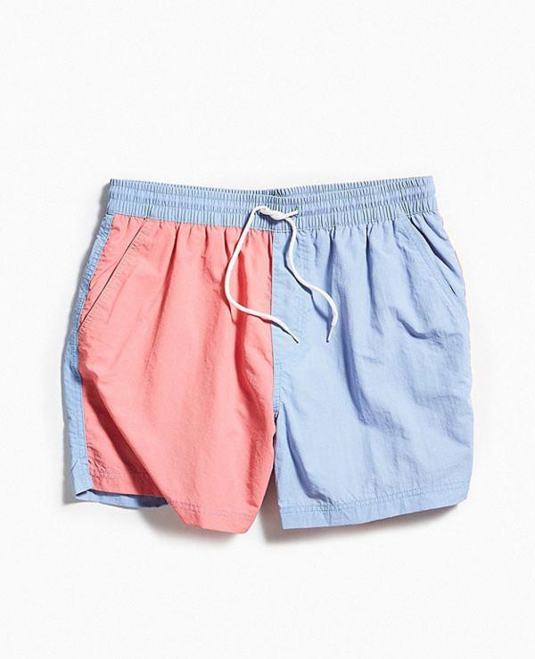 Colorblocked-Swim-Short