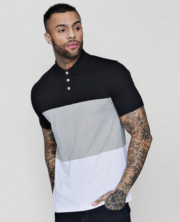 Colour-Block-Short-Sleeve-Polo-Shirts