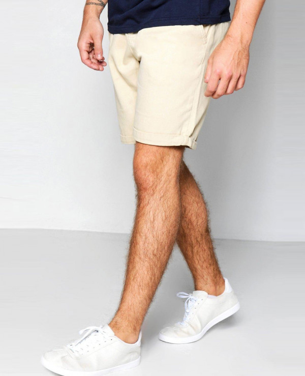 Cotton-Fleece-Stone-Plain-Chino-Shorts