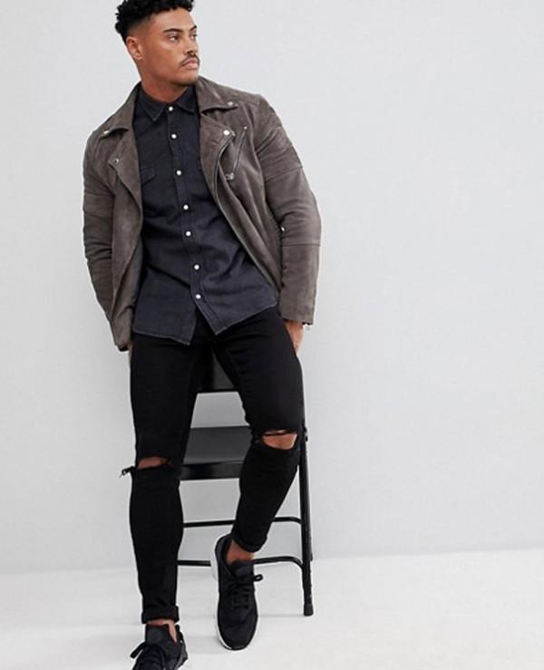 Denim-Cowboy-Style-Shirt-In-Black