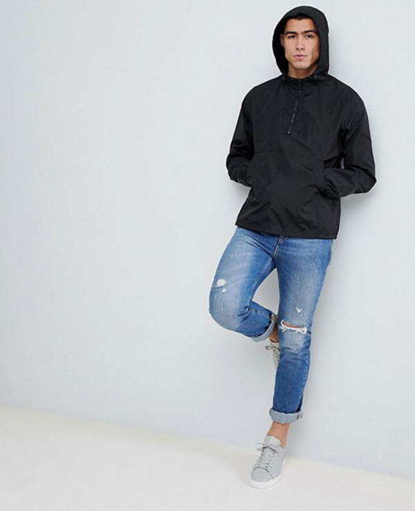 Design-Overhead-In-Black-Windbreaker-Jacket