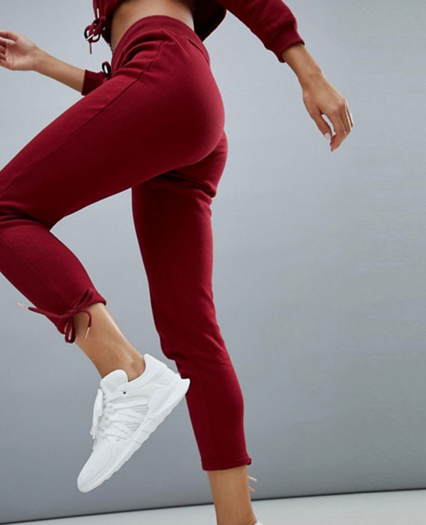 Fashion-Design-Drawstring-Joggers-In-Red-Sweatsuit