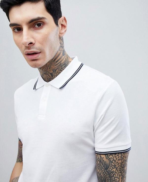 Green-Barton-Tipped-Polo-Shirt-in-White