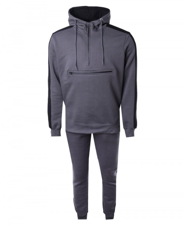 High-Quality-Men-Skinny-Fit-Zipper-Front-Hooded-Tracksuit